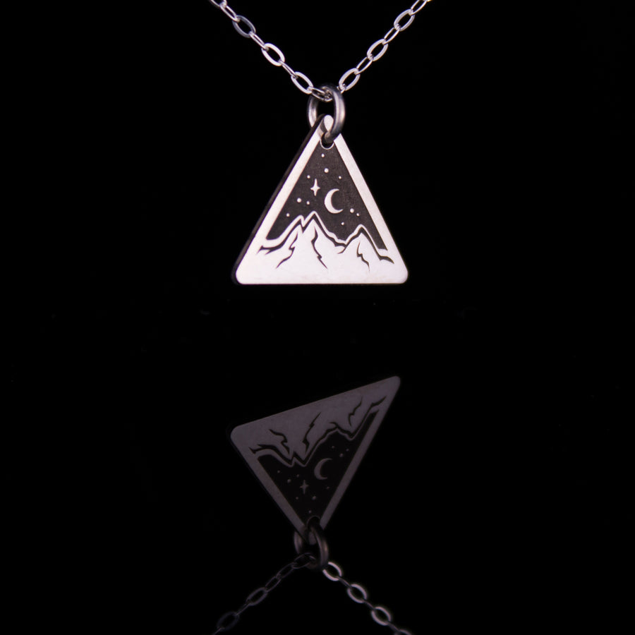 Star Light Small Triangle Necklace