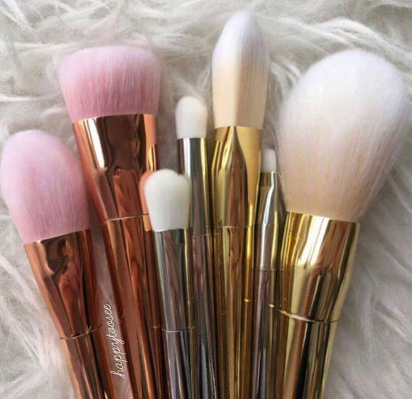 7 Pcs Golden Metallic Brushes