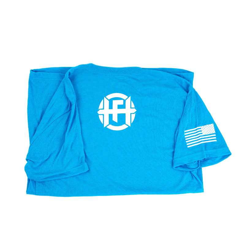 Logo Tee in Blue