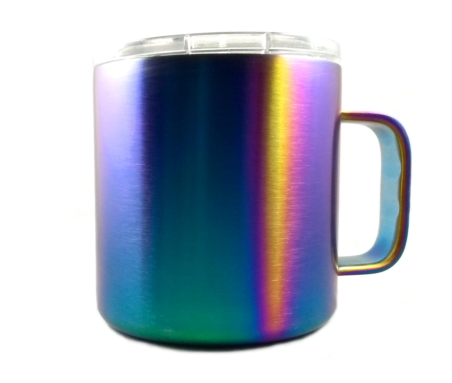 GREAT SPIRIT WARES Iridescent Rainbow Vacuum Insulated Travel Mug 16 Ounce Colorful Stainless Steel Shatterproof BPA Free, Lid Included