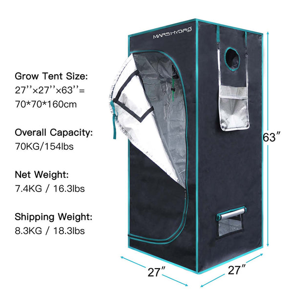 2.5' x 2.5' Indoor Grow Tent