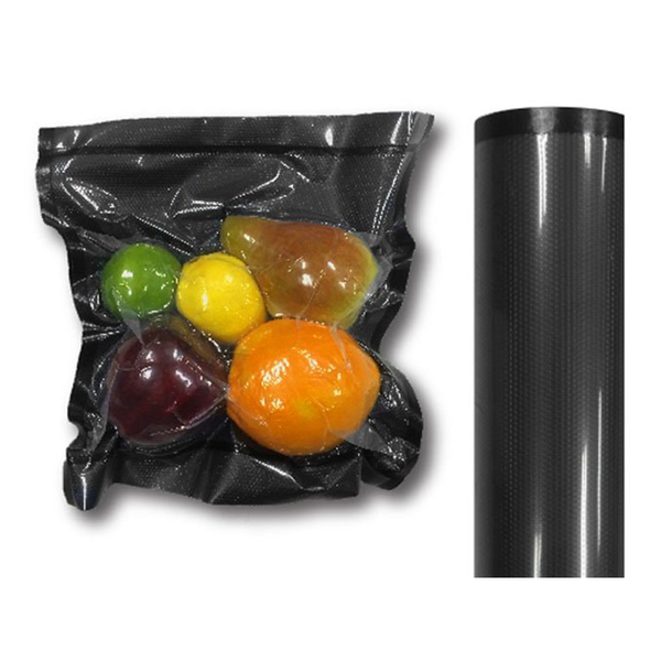 "NatureVAC Vacuum Seal 11"" x 19.5' Black and Clear Roll"