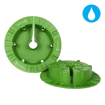 Round Flood & Drip Shield w/ Gravity Drippers