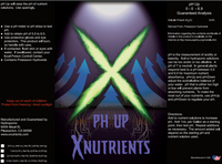 X Nutrients pH Up Label