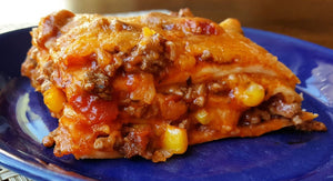 Beef & Cheese Enchilada Bake