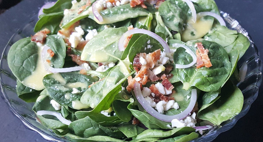 Spinach Bacon Blue Salad