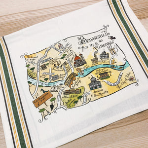 Florence Map Kitchen/Tea Towel