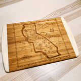Colorado State Map Large Bamboo Cutting Board
