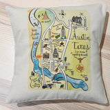 Foster City Map Square Pillow