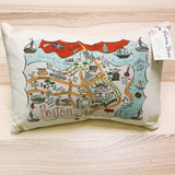 Cape Cod (Navy) Map Rectangle Pillow