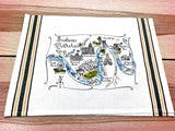 Brisbane, Australia Map Large Bamboo Cutting Board