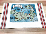 Cape Cod (Full Color) Map Art Print