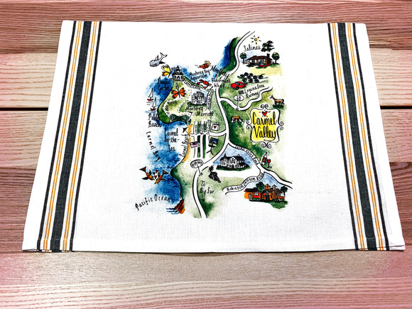 Carmel Valley Map Large Bamboo Cutting Board