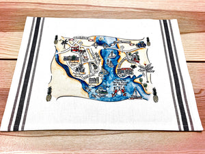 Charleston, SC Map Art Print
