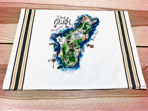 Island of Guam Map Large Bamboo Cutting Board