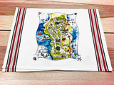 Harbour Island, Bahamas Map Square Pillow