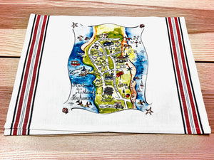 Harbour Island, Bahamas Map Large Bamboo Cutting Board