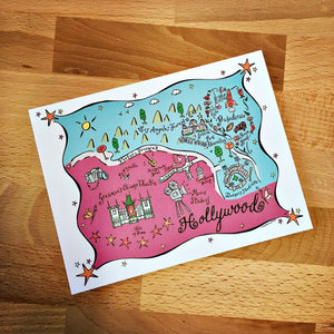 Hollywood Map Boxed Card Set