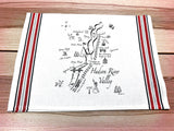 Hudson River Valley Map Large Bamboo Cutting Board