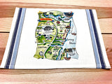 Jersey Shore (Design 1) Map Small Bamboo Cheese Board