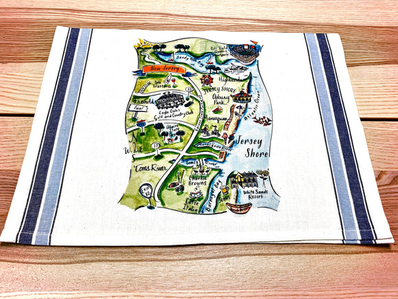 Jersey Shore (Design 1) Map Art Print