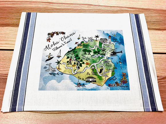 Kaua'i Map Small Bamboo Cheese Board