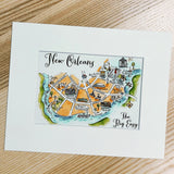 Burlingame Map Art Print