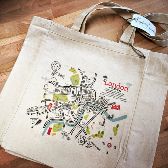 London City Map Tote