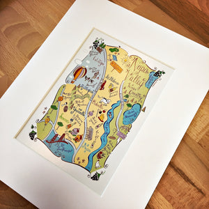 Napa Valley City Map Art Print