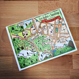 Los Gatos - Saratoga Map Full Color Note Card