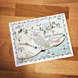 Santa Barbara Map Full Color Note Card