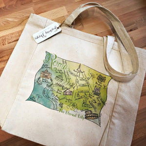 Rome City Map Tote