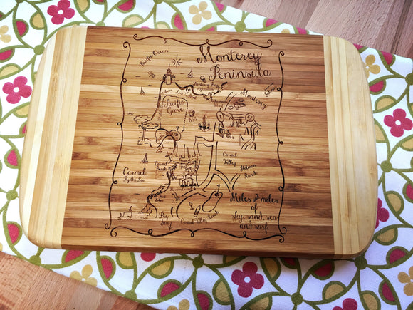 Monterey Peninsula Small Bamboo Cheese Board