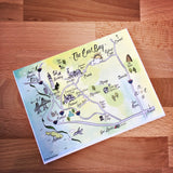 East Bay Map Full Color Note Card