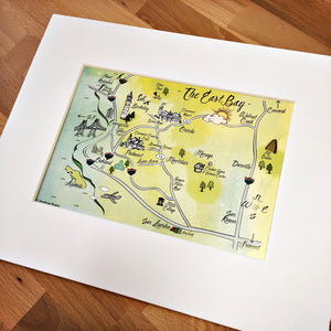 East Bay Map Art Print