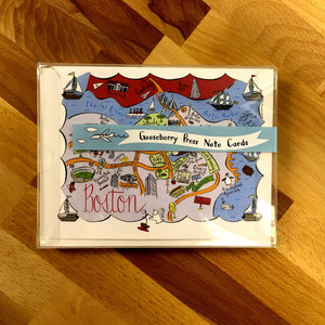 Boston Map Boxed Card Set