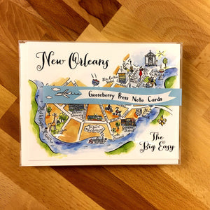 New Orleans Map Boxed Card Set