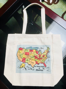 United States Map Tote