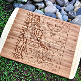 Silicon Valley Map Large Bamboo Cutting Board