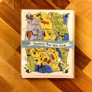 Napa Valley Map Boxed Card Set
