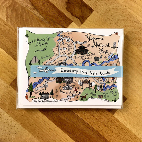 Yosemite National Park Map Boxed Card Set
