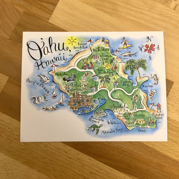 Oahu Postcard/Save the Date Cards