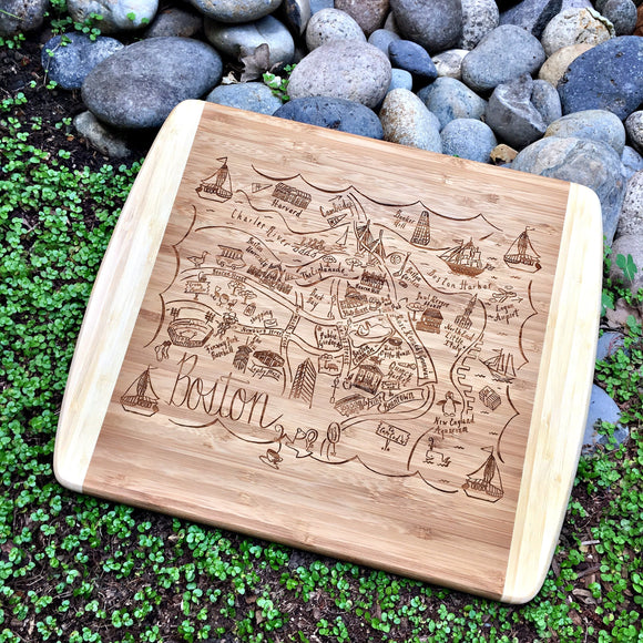 Boston Small Bamboo Cheese Board