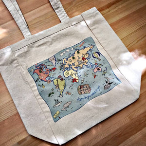 World Map Tote