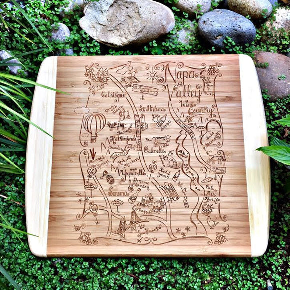 Napa Valley Small Bamboo Cheese Board
