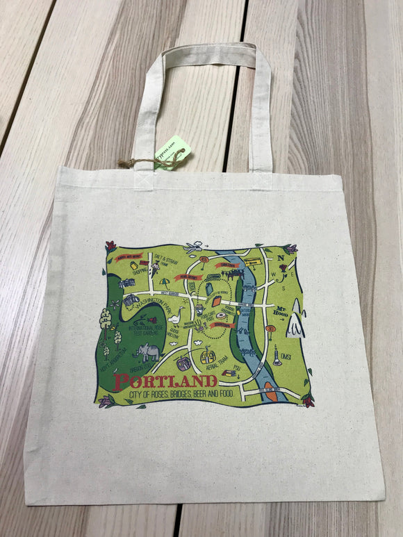 Portland Map City Tote