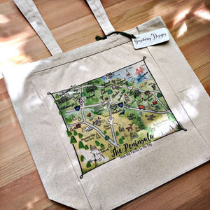 SF Peninsula Map Tote