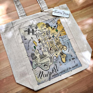 Newport, Rhode Island City Map Tote