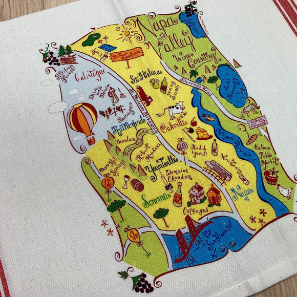 Napa Map Kitchen Tea Towel