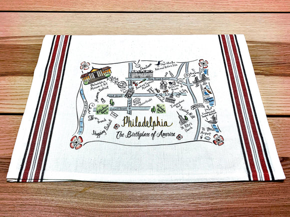Philadelphia Map Kitchen/Tea Towel